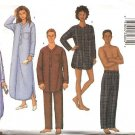 "Butterick Sewing Pattern 6885 Misses Mens Chest Size 30-40"" Unisex Nightshirt Pants Pajamas Top"