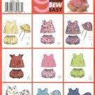 Butterick Sewing Pattern 6954 Baby Infant Size NB-M Easy Sleeveless Summer Top Panties Hat