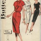 Vintage 1960's Butterick Sewing Pattern 9329 Size 10 B31 Easy Cap Sleeve Straight Dress
