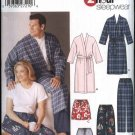 "Simplicity Sewing Pattern 5314 Mens Womens Chest Size 40-50"" Wrap Front Robe Shorts Pants"