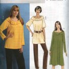 Butterick Sewing Pattern 5289 Misses Size 8-14 Easy Raglan Sleeve Tunic Top Dress Long Pants