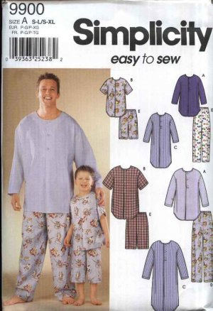 Simplicity Sewing Pattern 9499 Mens Size S-XL Boys Size S-L Easy