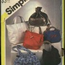 Simplicity Sewing Pattern 5476 Fashion Handbags Purse Tote Monogram Embroidery Pocketbook