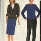 Butterick Sewing Pattern 6702 Misses Size 6-8-10 Easy Wardrobe Cardigan Jacket Top Skirt Pants