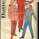 Vintage Butterick Sewing Pattern 8765 Boys Girls Size 6 Snowsuits Hooded Jacket Overalls Pants