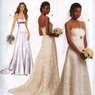Butterick Sewing Pattern 5325 Misses Size 6-12 Strapless Wedding Bridal Gown Dress Cut-On Train