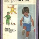 Simplicity Sewing Pattern 8949 Boys Size 1-3 Knit Wardrobe Tops Shorts Pants Zipper Front Jacket
