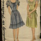 "Vintage USED Simplicity Sewing Pattern 1270 Misses Size 14 Bust 32""  Gathered Skirt Ruffled Dress"