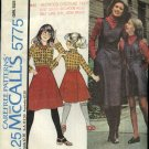 McCall's Sewing Pattern 5775 Girls Size 12 Back Wrap Skirt Jumper