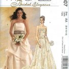 McCall's Sewing Pattern 5807 M5807 Misses Size 14-20 Strapless Two Piece Wedding Bridal Gown Dress