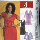 McCalls Sewing Pattern 6032 Womans Plus Size 18W-24W Knit Raised Waist Dress Sleeve Variations