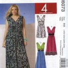 McCalls Sewing Pattern 6073 Womans Plus Size 18W-24W Easy Knit Sleeveless Empire Dress