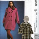 McCall's Sewing Pattern 5939 Womans Plus Size 18W-24W Lined Double Breasted Loose-fitting Coat