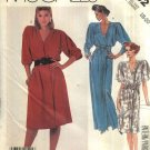 Retro McCalls Sewing Pattern 2232 Misses Size 18-20 Mock Wrap Front Short Long Dress Sash