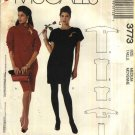 McCall's Sewing Pattern 3773 Misses Size 14-16 Easy Knit Long Short Sleeve Dress Top Cowl Neck