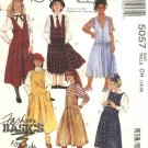 McCalls Sewing Pattern 5057 Girls Size 7-8-10 Easy Classic Jumpers Gathered Split Culotte Skirt