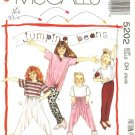 Retro McCalls Sewing Pattern 5202 Girls Size 7-8-10 Jumping Beans Easy Knit Top Pants Leggings