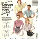 McCalls Sewing Pattern 5296 Misses Size 12 Easy Palmer Pletsch Front Wrap Back Button Blouses