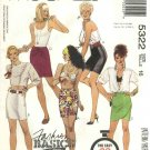 McCall's Sewing Pattern 5322 Misses Size 16 Easy Basic Straight Close Fitting Mini Skirt