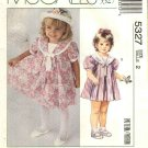 McCalls Sewing Pattern 5327 Girls Size 2 Laura Ashley Loose Fitting Tent Short Sleeve Dress