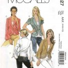McCall's Sewing Pattern 5327 M5327Misses Size 4-10 Button Front Princess Seam Unlined Jackets