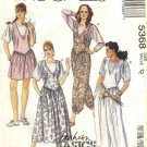 McCalls Sewing Pattern 5368 Misses Size 12 Easy Classic Jumper Jumpsuits Romper T-Shirt