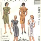 McCalls Sewing Pattern 5386 Misses Size 8-10-12 Basic Straight Back Button Dress