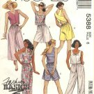 McCalls Sewing Pattern 5388 Misses Size 6 Easy Summer Sleeveless Tops Suntops Shorts Pants