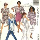 McCalls Sewing Pattern 5490 Misses Size 10-12-14 Easy Knit Wardrobe Pants Shorts T-Shirt Top Shirt