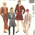 McCalls Sewing Pattern 5520 Misses Size 12 Easy Jacket Flared Skirt Long Cropped Pants
