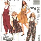 McCalls Sewing Pattern 5521 Misses Size 8-10-12 Easy Basic Jumper Jumpsuit