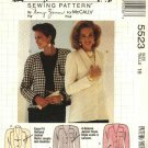 McCalls Sewing Pattern 5523 M5523 Misses Size 16 Nancy Zieman Button Front Long Sleeve Jacket