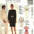 McCalls Sewing Pattern 5529 Misses Size 12 Nancy Zieman Long Short Sleeve Jumpsuit Dress Belt