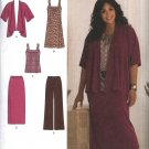 Simplicity Sewing Pattern 2419 Misses Size 10-18 Khaliah Ali Wardrobe Jacket Dress Top Skirt Pants