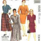 McCall's Sewing Pattern 5530 Misses Size 8-12 Easy Two-Piece Dresses Jacket Split Straight Skirt