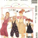 McCall's Sewing Pattern 5535 Girls Size 10-12 Easy Jumpsuit Romper Jumper Long Short Sleeve Shirt