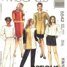 McCall's Sewing Pattern 5542 Misses Size 10-12 Easy Knit Wardrobe Dress Tunic Top Shorts Pants