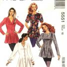 Retro McCall's Sewing Pattern 5551 Misses Size 16 Button Front Flared Princess Seam Tunic