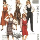 McCall's Sewing Pattern 5556 M5556 Misses Size 8-12 Easy Straight Split Skirt Jumpers Jumpsuit