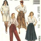 McCall's Sewing Pattern 5557 Misses Size 10-12 Easy Pants Skirt Split-Skirt Gauchos Culottes