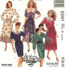 McCall's Sewing Pattern 5561 Misses Size 8-12 Basic Straight Full Skirt Dress Neck Sleeve Options