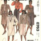 McCall's Sewing Pattern 8763 Misses Size 18 Diahann Carroll Wardrobe Dress Blouse Skirt Jacket