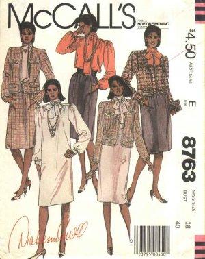 McCall�s Sewing Pattern 8763 Misses Size 18 Diahann Carroll Wardrobe Dress Blouse Skirt Jacket