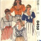 McCall's Sewing Pattern 8459 Misses Size 14 Button Front Blouse Collar Sleeve Variations