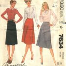 McCall's Sewing Pattern 7634 Misses Size 18 Classic Wrap Front A-Line Skirts Palmer Pletsch
