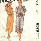 Vintage McCall's Sewing Pattern 6579 Misses Size 16 Classic Shirtwaist Button Front Straight Dress