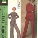 Retro McCall's Sewing Pattern 4273 Misses Size 16 Halston Unlined Jacket Wide Legged Pants