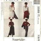 McCall's Sewing Pattern 5589 Misses Size 8-10-12 Easy Straight Split Skirt Pants Culottes Gauchos
