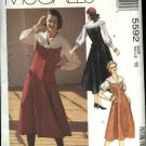 McCall's Sewing Pattern 5592 Misses Size 12 Princess Seam Button Front Jumper Blouse