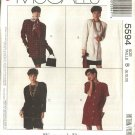 McCall's Sewing Pattern 5594 Misses Sizes 8-10-12 Easy Button Front Dress Jacket Straight Skirt